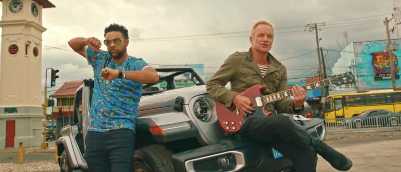 Sting e Shaggy protagonisti ieri sera sul Palco di Sanremo. il loro singolo inedito Don't Make Me Wait