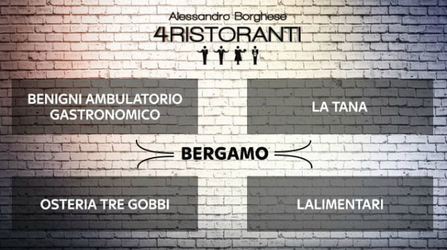 4 Ristoranti ottava tappa Bergamo 4 stagione