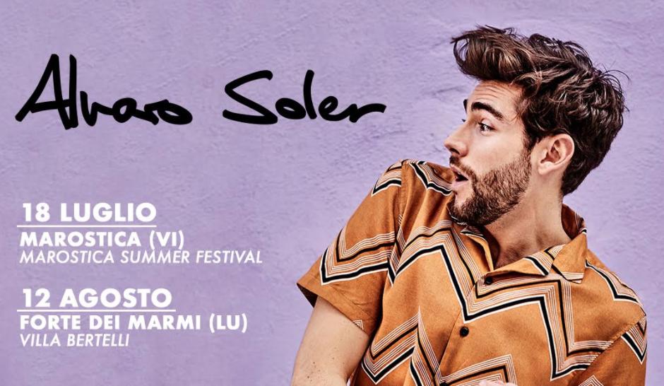 Alvaro Soler torna in Italia per due concerti