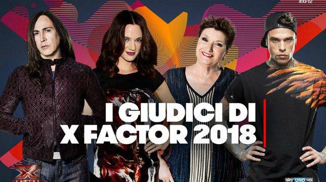 X Factor 2018: i giudici della dodicesima edizione sono Mara Maionchi, Fedez, Asia Argento e Manuel Agnelli