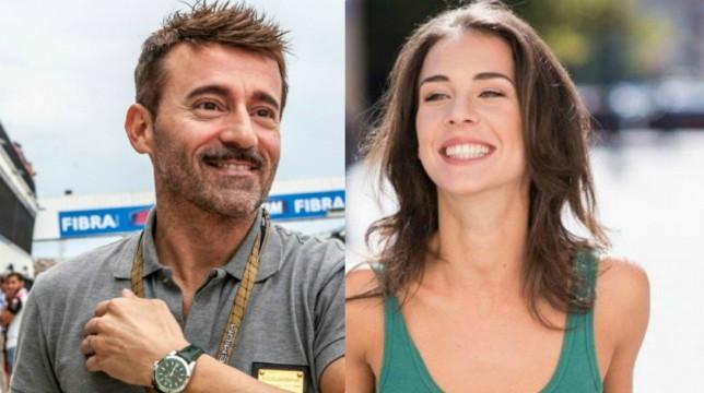 Max Biaggi e Michelle Carpente, tenere effusioni in aeroporto