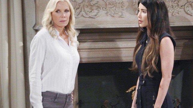 Anticipazioni Beautiful 5 giugno 2018: Steffy tenta di convincere Brooke a rimanere con Bill