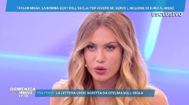 """Isola dei Famosi 2019, Taylor Mega: """"La mia ambizione è guadagnare un milione al mese"""""""