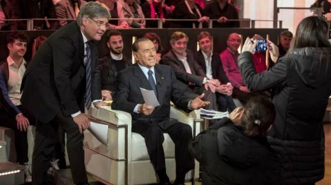 Dritto e Rovescio: nella seconda puntata di stasera l'intervista a Silvio Berlusconi