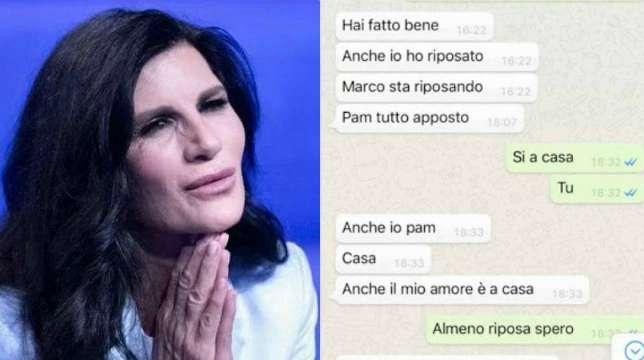 """Pamela Prati shock, online una sua chat privata: """"Marco sta riposando"""""""