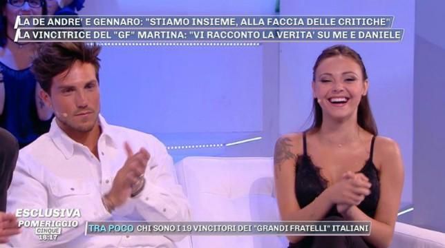 Grande Fratello: Martina Nasoni e Daniele Dal Moro parlano della loro prima notte insieme