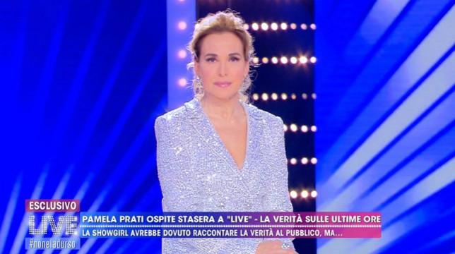 Live – Non è la D'Urso, Pamela Prati non si presenta all'ultimo minuto: Barbara svela la verità