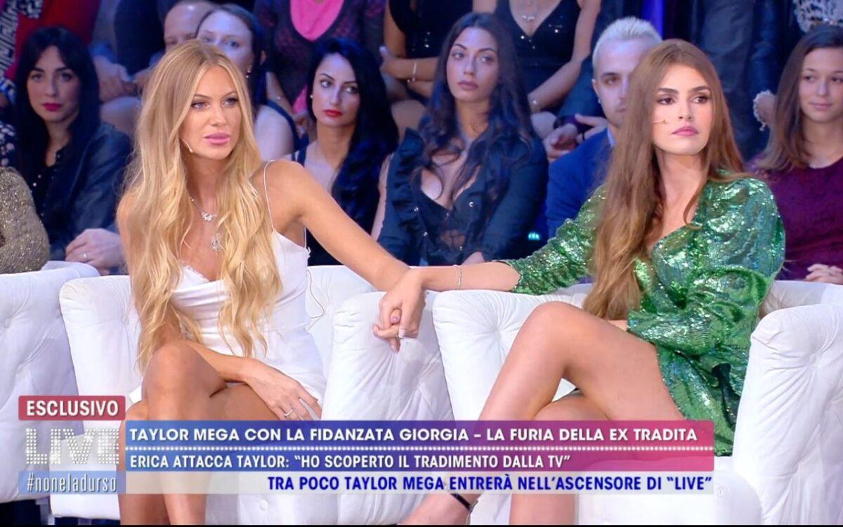 """Live-Non è la d'Urso, Erica Piamonte su Taylor Mega e Giorgia Caldarulo: """"A Taylor di Giorgia non gliene frega niente"""""""