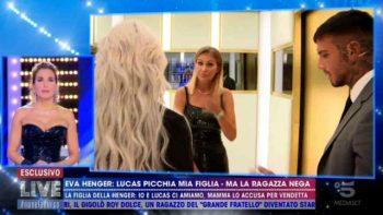 Live-Non è la d'Urso: Eva Henger, Mercedesz e Lucas Peracchi, il confronto finito male