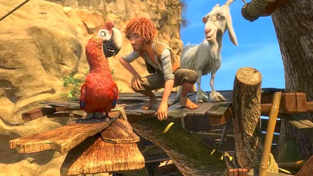 Robinson Crusoe: il film di animazione stasera su Italia 1